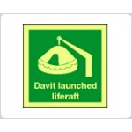 Davit Launched Liferaft Sign