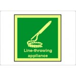 Line Throwing Appliance Sign