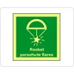 Rocket Parachute Flares Sign